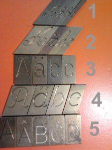 lettertypes graveren